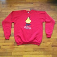 Vintage Peabody Hotel Memphis Sweatshirt Red USA 2 Sided Size XL