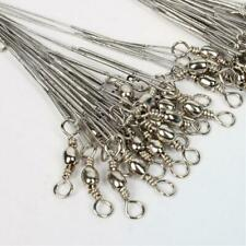 Stainless Steel Wire Line Silver Saltwater Leader Strong Sturdy Fishing Tools