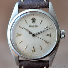 ROLEX PRE-EXPLORER Ref 6352 OVERSIZED SEMI-BUBBLE RARE STAINLESS STEEL Cal 775
