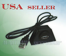 Car Dashboard Bicycle Motorcycle Flush Mount USB Extension Cable Install Kit