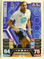 Match Attax 2013/14 Premier League - #318 Mousa Dembele - Tottenham Hotspur