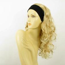 Perruque avec bandeau blond doré méché blond très clair ref BUTTERFLY en 24BT613