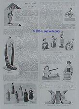 PUBLICITE ROBJ BRULE PARFUM LAMPE JAZZ PIERROT ENCRIER COW BOY JAPONAISE DE 1928