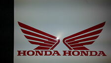 RED HONDA WINGS TANK DECAL STICKER X 2  115MM x 90mm FREEPOST MANY COLOURS