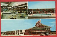 BYRON GA MAGNOLIA PLAZA MOTEL COFFEE SHOP  POOL OLD CARS 1967  POSTCARD