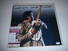 VINCE GILL COUNTRY MUSIC SINGER JSA/COA SIGNED LP RECORD ALBUM 12X12PHOTO