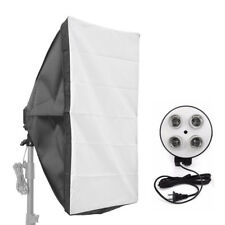 E27 4 Socket Photo Light Lamp Bulb Bracket Holder 50cm 70cm Studio Softbox Kit