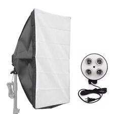 E27 4-1socket Foto LAMPADA LAMPADINA STAFFA SUPPORTO Studio Softbox Kit 50 70cm