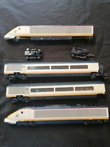Hornby Eurostar Loco OO Gauge With Dummy/coaches