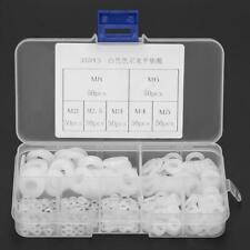 350pcs White Nylon Durable Washer Flat Gasket Ring Kit M2/M2.5/M3/M4/M5/M6/M8