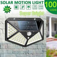 Impermeable 100LED Solar Accionado Luz Exterior Sensor de Movimiento Pir Jardín