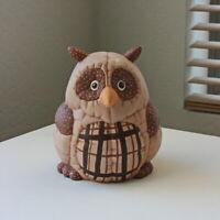 Owl figurine ceramic whimsical figurine vintage contry art decor owl collection