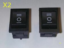 2 X 6 Pin Interruptor DPDT ON-OFF-ON 3 posición Snap barco Rocker Switch AC 6A/250V 10A/125V