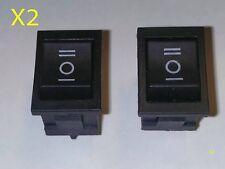 2 x 6 Pin DPDT ON-OFF-ON 3 Position Snap Boat Rocker Switch AC 6A/250V 10A/125V