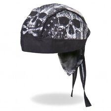 Biker Kopftuch Bandana Headwrap Skull Black Totenkopf USA Flag Amerika Flagge