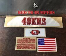 San Francisco 49ers TB Football Helmet Decal Bumper Set - F/S 3M Laminate