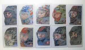 1996-97 Donruss Elite Painted Warriors 10 Card Set #'ed/2500 w/ Roy Promo