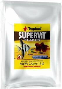 TROPICAL SUPERVIT FLAKE 0.42 OZ COLOR ORNAMENTAL PROFESSIONAL FISH FOOD POUCH