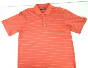 Greg Norman Mens Play Dry Disney Mickey Mouse Golf Polo Shirt Orange Size Large