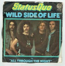 "STATUS QUO Vinyl 45T 7"" WILD SIDE OF LIFE -ALL TROUGH THE NIGHT -VERTIGO 6059153"