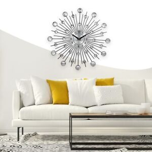 Crystal Sunburst wall clock