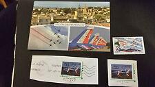 Carte postale et timbres de  patrouille de France
