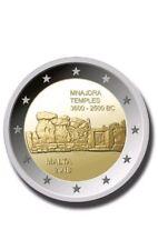 """Pièce Commémorative de Malte 2018 coin card """"Temple de Mnajdra"""" BU."""