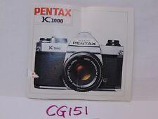 VINTAGE PENTAX K1000 K 1000 CAMERA BOOK MANUAL ONLY REPLACEMENT PART OEM
