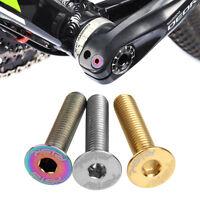 Bicycle M6*30mm Flat-head Headset Stem Cap Titanium Bolt Bike Screw Cycling Part