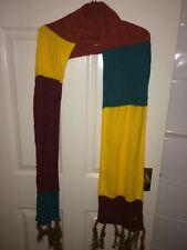 ADIDAS NEO WOMENS RED/YELLOW GREEN KNITTED SCARF (NEW WITH TAGS)