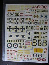 1/72 DECAL ESCI 97 SIKORSKY S58 BELL IROQUOIS USA GB ITALY GERMANY DEUTCH CANADA
