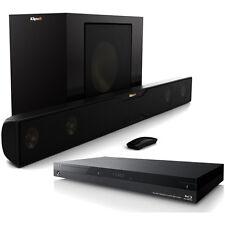 Klipsch R-20B Bluetooth Soundbar w/ Wireless Subwoofer & 4k Wifi Blu-ray Player