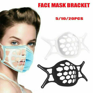 20PS 3D Face Mask Inner Support Frame Silicone Mouth Bracket Washable Holder lot