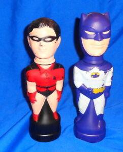 VINTAGE 1966   SOAKY   Bubble Bath Bath Bottles  Batman & Robin   Take a  LOOK !