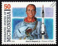 ALAN SHEPARD (1st American Astronaut in Space) Freedom 7 Spacecraft Rocket Stamp