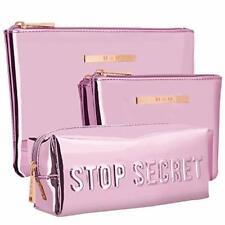 Cosmetic Bag for Women 3 in 1, Waterproof Toiletry Bags Soft Anti-Mildew Glitter