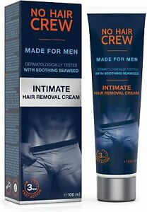 Mens Hair Removal Cream for Sensitive Areas Intimate Genital Extra Gentle 100 ml