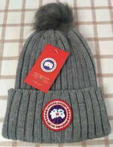 New Canada Goose Unisex Beanie Hat Indoor and Outdoor Warm Cap Gray