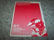 1997 Honda TRX250 FOURTRAX RECON Factory User Guide Owner Manual ORIGINAL