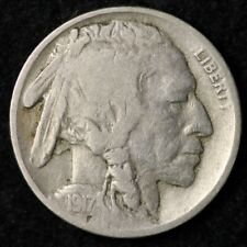 1917 Buffalo Nickel CHOICE FINE FREE SHIPPING E514 RE