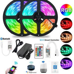 WiFi 5050 LED Band Streifen Smart Home APP Lichtleiste RGB dimmbar Stripe 5-20M