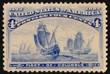 Us Sc# 233 *Unused Ng H* { -Xf- Centered } Beauty 4c Fleet Of Columbus Of 1893