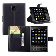 BlackBerry Passport Q30 Flip Leather Case Black Stand Wallet Screen Pr