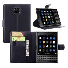 BlackBerry Passport Q30 Flip Leather Case Black Stand Wallet Screen Protector
