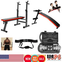 Adjustable Fitness Weight/Sit Up Bench Incline Decline Gym Exercise Workout US