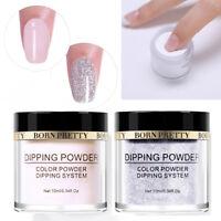 2Bottles BORN PRETTY Dipping Acrylic Powder Glitter  Dust Nail Decoration