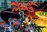 "ATTACK FROM MARS PINBALL ARCADE GAME ROOM DECOR 13""X19"" HUGE SIZE POSTER PRINT"