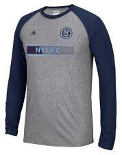 "New York City FC Adidas MLS ""Midfield"" Men's Climalite L/S T-Shirt"