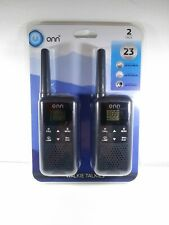 Onn Rechargeable Walkie Talkie Long Range Up To 23 Mile 22 Channel LED Light New
