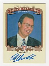 2012 Goodwin Champion Authentic Original Autograph Dale Hawerchuk Hockey Nhl Hof